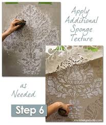 easy sponge roller texture and stencil