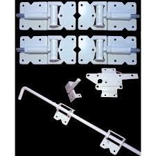 vinyl fence double gate. Vinyl Fence Gate Double Hardware Kit WHITE (for Vinyl, PVC Etc Fencing)