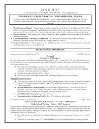 Assistant Principal Resume Gulijobs Com