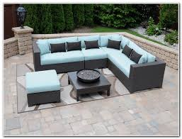 Black Wicker Sectional Patio Furniture Patios Home Design