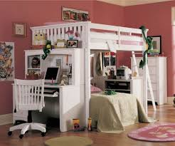 kids loft bed with desk. Kids Bunk Bed With Desk Beds For Toddlers Purple Shag Rug Wooden Floor Metal Loft