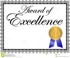 Award Of Excellence Certificate Template Award of Excellence stock vector Illustration of accomplishment 69