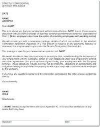 Sample Of A Termination Letter To An Employee Contract Termination Notice Termination Letter Sample At Will Free