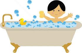 shower tub clipart. A Boy Taking Bath In The . Shower Tub Clipart C