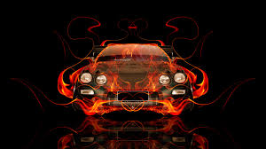 toyota celica jdm fire abstract car