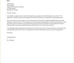 Internship Application Letter Application Letter For Internship Sample Cover 1 Example