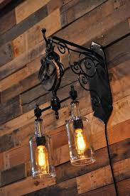 diy pulley ceiling light hand crafted recycled wine bottle liquor hanging pendant custom made sconce steampunk chandelier with