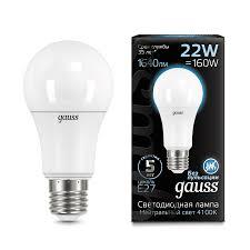<b>Gauss LED A70</b> 22W E27 1640lm 4100K 1/10/50 арт. 102502222