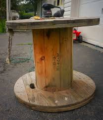 wooden spool end table my latest diy idea from
