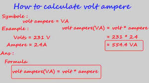electric motor physics. Fetching How To Calculate Volt Ampere Electrical Calculation Power Equation Electric Motor Full Size Physics