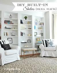diy easy built in shelves using billy ikea