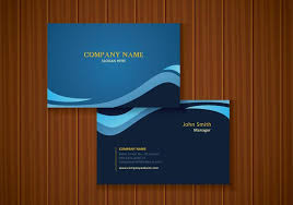Free Stylish Blue Business Card Design Download Free Vector Art