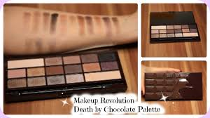by chocolate palette review live swatches makeup revolution you