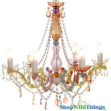 chandelier gypsy pastels 26 x 22 6 lights with plug
