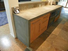 concrete countertop with waterfall edge photo source concrete pete