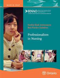 Professionalism In Nursing Professionalism In Nursing
