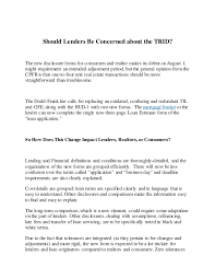 Trid Laws Should Lenders Be Concerned About The Trid