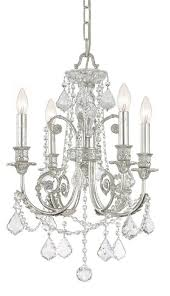 crystorama regis 4 light clearcrystal silver mini chandelier