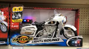 Fast Lane Light And Sound Police Motorcycle Fast Lane Light Sound Motorcycle Toy Youtube