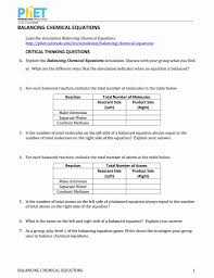 phet balancing chemical equations worksheet answers resume