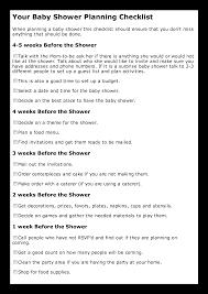 Baby Shower Planning Checklist Templates At