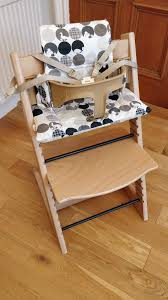 stokke tripp trapp high chair complete with harness cushion and baby set all excellent condition