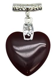 fashion jewelry beet red faux heart shaped stone pendant with elongated necklace loop com