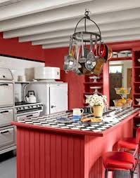 Red Wall Kitchen Accent Wall Kitchen Colors A Traditional Natural Wood Finish Is