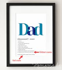 dad definition poster gift for husband