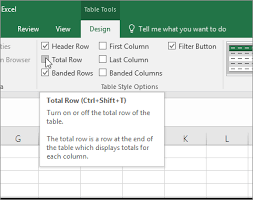 Stock Record Keeping Excel Sheet Total The Data In An Excel Table Office Support