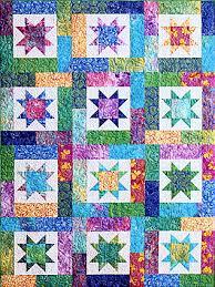 Lucky Stars Pieced Quilt Pattern by Atkinson Designs Love the ... & Lucky Stars Pieced Quilt Pattern by Atkinson Designs Love the colors and  the design. Adamdwight.com