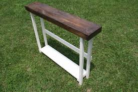 black hall tables narrow. Very Narrow DIY Console Table Made From Reclaimed Wood With Storage And Painted White Color For Hall Spaces Ideas Black Tables H