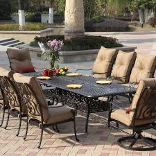 iron patio furniture. Patio Table Sets Awesome 10 Person Outdoor Dining Set With Iron Furniture