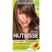 Garnier Light Brown Hair Color Price Garnier Nutrisse Nourishing Multi Lights Highlighting Kits Warm Bronze H3
