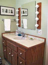 Painting bathroom vanity before and after Ideas Before Dated And Dark Better Homes And Gardens Bathroom Vanity Makeover Ideas