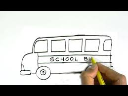bus drawing for kids. Delighful Kids How To Draw A School Bus In Easy Steps For Children Kids Beginners Intended Bus Drawing For Kids B
