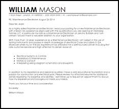 maintenance electrician cover letter sample electrician resume cover letter