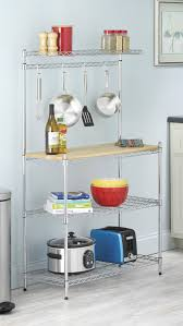 whitmor supreme kitchen bakers rack wood chrome review 2