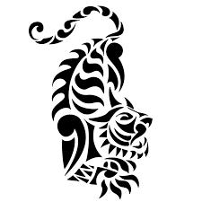 эскиз татуировки трайбл тигр Tribal Tiger татуировку рф фото