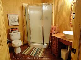 cabin bathroom decor rustic crafts chic within prepare 37