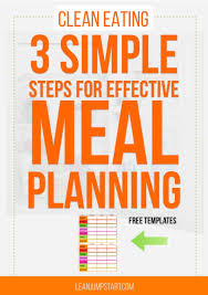 Clean Eating Meal Planning Chart Weekly Meal Planner How To Simplify Good Eating Habits