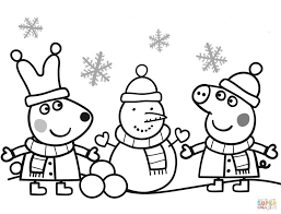 Peppa Pig Coloring Pages Free Coloring Pages Within Pepa De Big