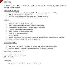 No Experience Resume Sample Awesome Phlebotomist Resume Samples
