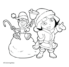 Free Dora Coloring Pages Crukhsfinfo