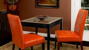 astounding orange dining room chairs on chair houzz home within enthralling leather dining room chairs with