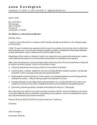 Cover Letter For Waitress Sample Mockatoo Com