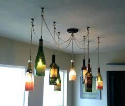 wine bottle lighting. Wine Bottle Lights Light Fixture Best Inspiration Images On With Regard . Lighting B