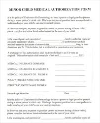 40 Printable Medical Authorization Forms PDF DOC Free Beauteous Printable Medical Release Form For Children