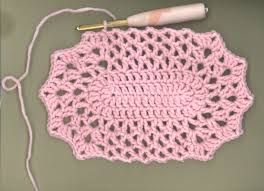 Free Crochet Placemat Patterns Best My Little Blue House An Oval Ripple