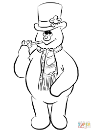 Small Picture Frosty the Snowman coloring page Free Printable Coloring Pages